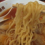 幸楽苑 - 麺リフト、多加水麺でした(2015.4.13)
