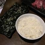炭焼道楽 - 娘用ライス 韓国のり