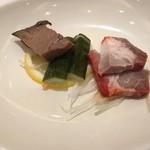 36909672 - 前菜の叉焼と胡瓜の酢漬