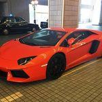 36909691 - 名古屋東急ホテルの車寄せには様々な高級車が止めてある                       この日はオレンジのランボルギーニー・アベンタドールがありました