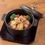 点 - 手羽元と野菜のオーブン焼き