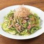 点 - ゴーヤと桜海老のサラダ