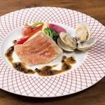 点 - 金目鯛と蛤のヴァプール 有馬山椒のソース