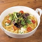 点 - ボッコンチーニとミニトマトのオイルスパゲッティ