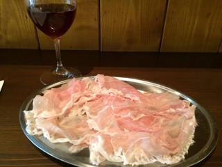 生ハムとワイン メッシタフランコ - ロゼスパークリング&生ハム