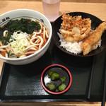 名代 箱根そば - うどんとかき揚げ丼のセット