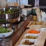 カフェ カラフル - 料理写真:スープ&サラダバー