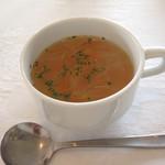柊山ガーデン - ランチ スープ
