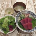 CHICHUKAI UOMARU - 【ランチパスポート】特上本マグロ丼1000円→500円