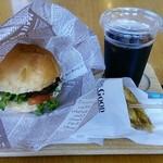 リーフカフェバーガー - 料理写真:リーフバーガーセット 800円