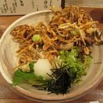 美糸 - 桜海老と空豆のかき揚げおうどん(ぶっかけ)
