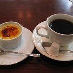 ボン・ファン - 最後はデザート(クリームブリュレ)とコーヒー