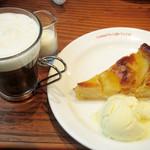 コクテル堂 - アイリッシュコーヒーと洋梨のタルト