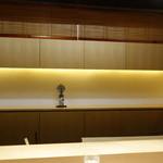 神楽坂 石かわ - カウンター席 2015年4月