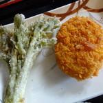 松製麺所 - チョイス天ぷらところっけ