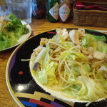 ケーズデリ - ツブ貝と春キャベツのパスタ(塩)&ランチサラダ