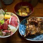 初島 - 海鮮丼+まぐろのカマ焼き 800円