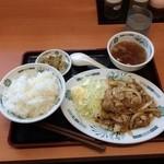 日高屋 - 生姜焼き定食650円