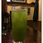 居酒屋 おんざびーと - 緑茶割り 2015.4