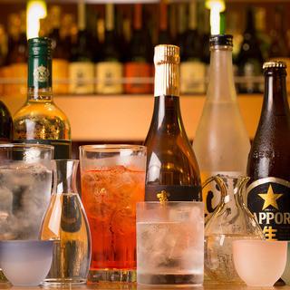 【ドリンク】日本酒やワインなど充実のラインナップ!