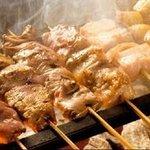 団欒 炎 - 料理写真:焼豚,焼き鳥、野菜串 充実の串は20種以上!