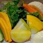 海と - 有機栽培栃木川田農園より直送の野菜を提供しております。