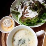 バニトイベーグル - サラダ&スープ&デザート