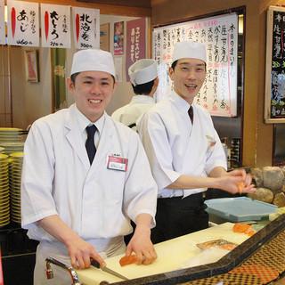 活きのいいネタを職人が握る本格寿司!