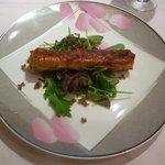 ラ・クープ - 前菜~鴨のコンフィ、パートフィロー包み焼き