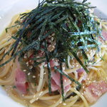 パスタバ - 高菜とベーコンの和風スパゲッティ