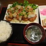 カフェハウス カヴァッルッチョ - 和風おろしチキン唐揚げ定食¥880☆