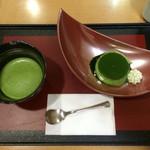 京匠庵 - 抹茶プリンセット