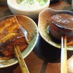 だるま - どて串(焼き豆腐・大根)