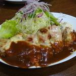 洋食の朝日 - ブタヘレチーズ焼き ¥1080