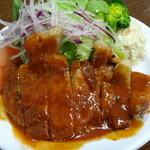 洋食の朝日 - ポークチャップ  ¥1280