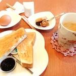 アーネ - モーニングセット コーヒー350円+50円 計400円