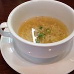 西洋軒 - 飲みかけではありません。(^_^;)ランチスープ