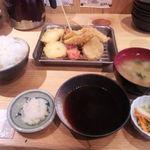 串天 - 天ぷらランチ(500円)