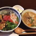 36982931 - 薩摩地鶏の炙りと野菜のマリネ丼