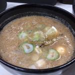 鴨錦 - イリコ出汁とかえしの甘味が美味い付け汁