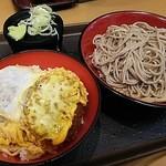 名代 富士そば 池袋西口店 - ミニヒレカツ丼セット