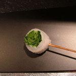 くら羅 - 料理写真:三つ葉のキス巻き