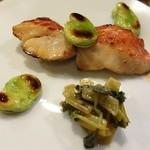 36993341 - 金目鯛と空豆の焼き物