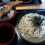 さぬきうどん ○讃 - 私はミニ天丼とざるうどんのセット