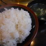 皇楽苑 - ライスとスープ