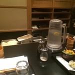 六波羅 - カウンターと厨房