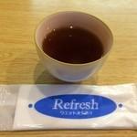 手打ちうどん 西村 - お茶をいただきました