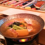 36998523 - 鯛の小鍋(鴨出汁)