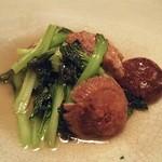 春秋 - タァ菜と干し椎茸の炒め