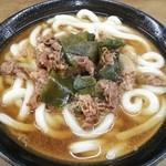 牧のうどん - 肉うどん (柔麺で注文)